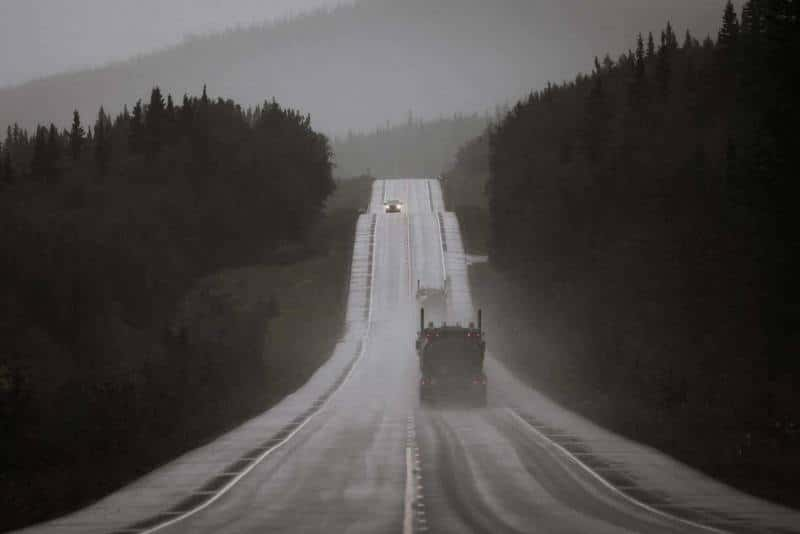 Day-07-Heading-North-on-Parks-Highway-in-the-Rain-Alaska