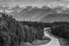 Parks-Highway-Black-and-White-Alaska
