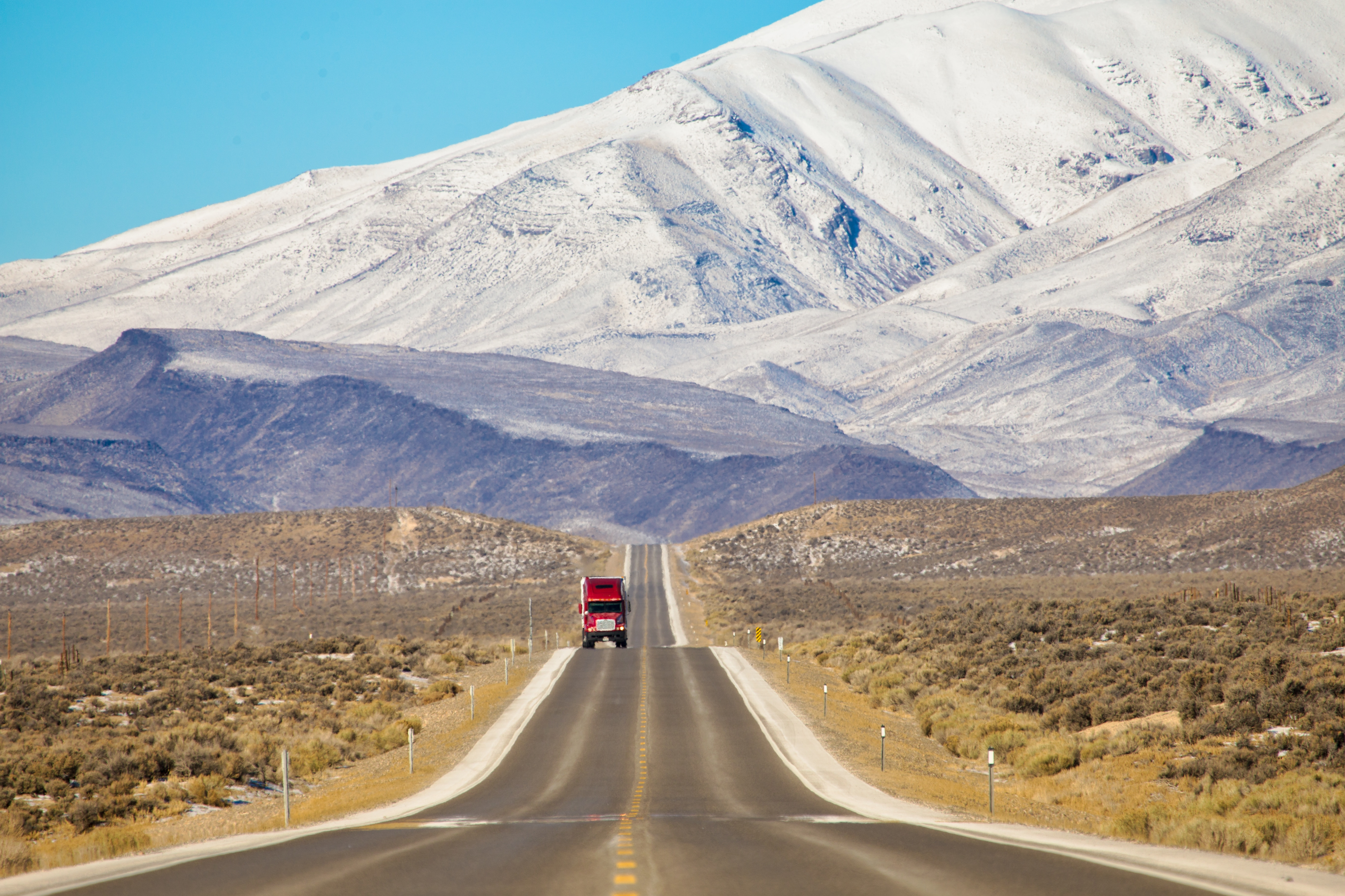 Red Truck, Great Basin Highway, Nevada