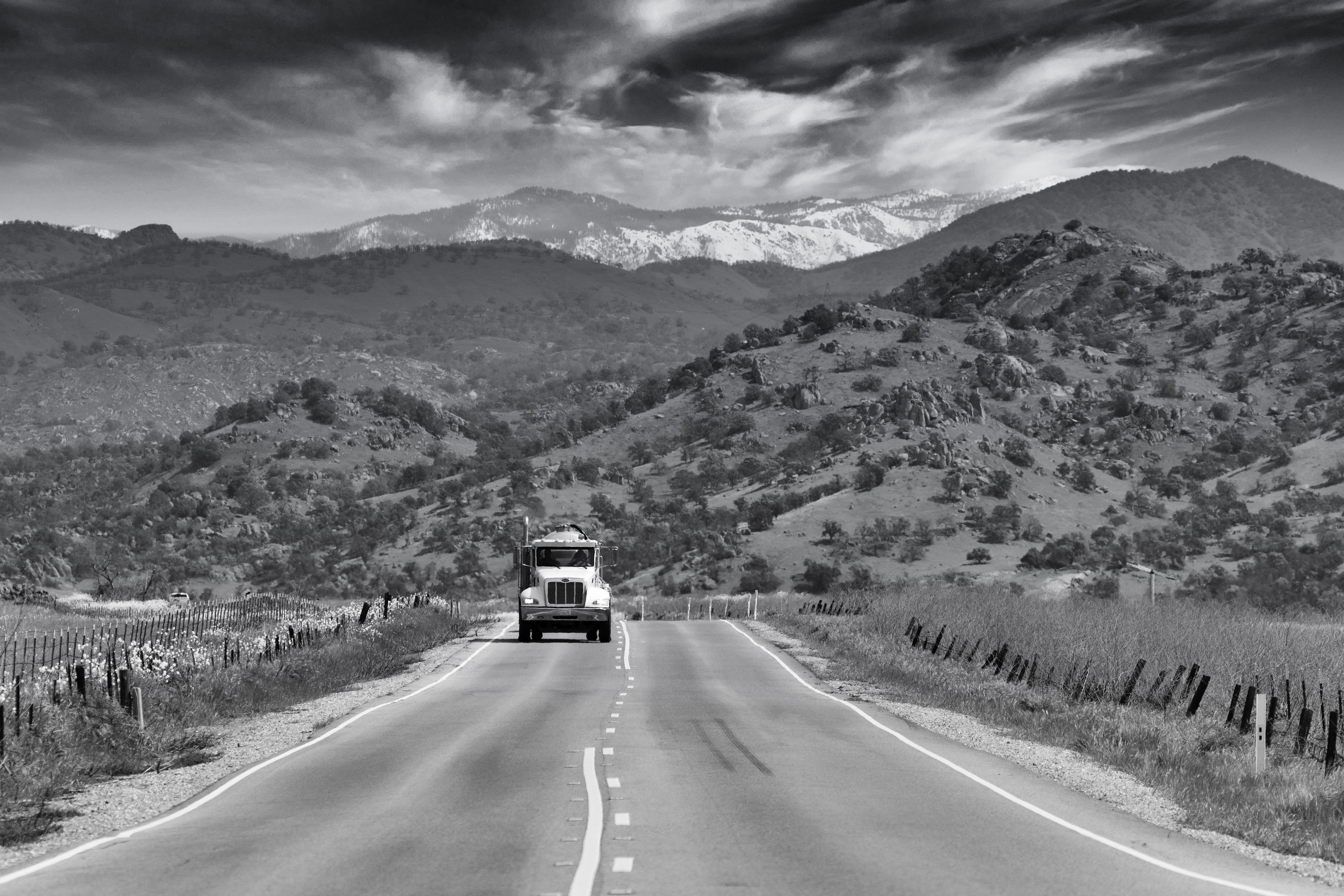 California State Route 140, towards Yosemite National Park