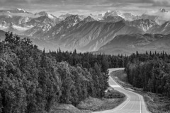 Road to Denali National Park, Alaska