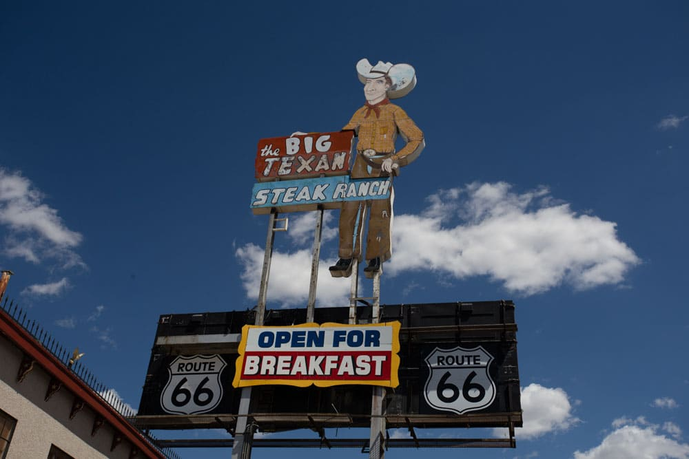 The Big Texan Steak Ranch, Route 66