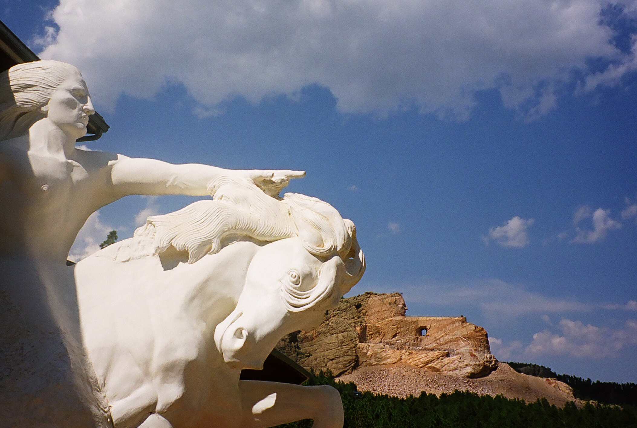 Crazy Horse Memorial and scale model