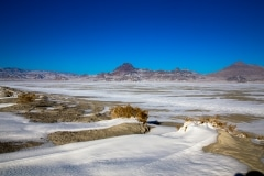 Snow on Bonneville Salt Flats, Utah
