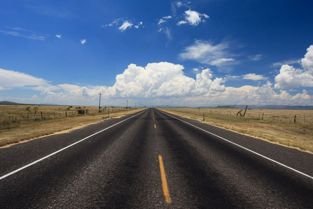 Texas Clouds, US Route 385